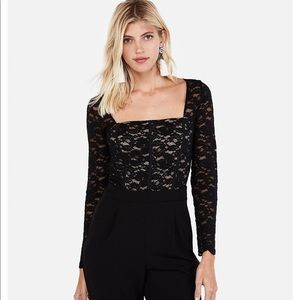 Express Lace Bodice Jumpsuit Brand New